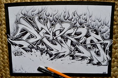 sketch (DeproTSC) Tags: wild white black pencil paper graffiti book sketch letters style bic produit tsc depro prode
