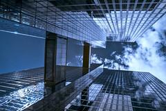 Twin Towers (martinwink62) Tags: twintowers hochhuser wolken bewlkt blau spiegelung glas bro brcke