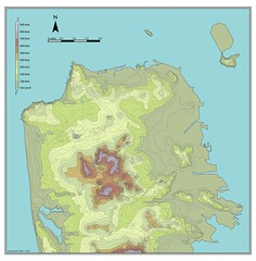 Sam Francisco Topographic Map - 2012 (brunoboris) Tags: sanfrancisco topo treasureisland hills atlas alcatraz sealevel topomap sanfranciscotopo