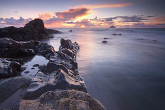 April Showers (Stuart Stevenson) Tags: longexposure sunset sea seascape colour water clouds photography scotland rocks tide wideangle april westcoast carrick 2012 northchannel irishsea ailsacraig clydevalley lendalfoot thanksforviewing canon5dmkii stuartstevenson stuartstevenson innerseasoffthewestcoastofscotland southaryshire can0n1740mm