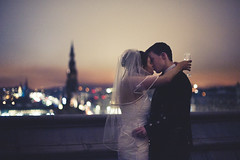 . (joannablu kitchener) Tags: roof wedding love rooftop night 50mm groom bride scotland nikon edinburgh balmoralhotel balmoral kis d700 kitchenerphotography