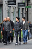 NKOTB band members and brothers Jordan Knight and Jonathan Knight are seen shopping on Grafton Street Dublin, Ireland