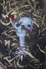 ruja (Tilted Replica *) Tags: art rose painting skull traditional canvas glyphs acryilic