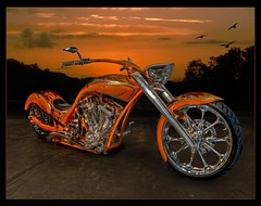 Harley Davidson  Custom Softail (color blind 56) Tags: minnesota composite photoshop nikon harley chrome harleydavidson motorcycle hotrod d200 custom tamron softail mn hdr carshow streetrod msra photomatix hdrsoft gsta elements9 cb1956