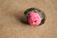 wood ring (Papuzzini Smellow) Tags: wood art love ecology funny handmade milano crafts craft ring jewellery gifts fantasy gift smellow papuzzini