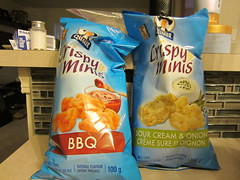 Day 347 - The munchies (GPrime83) Tags: canon barbeque quaker sourcreamandonion ricechips project365 crispyminis project366 elph100hs