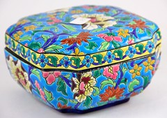 32. Enameled Chinese Lidded Box