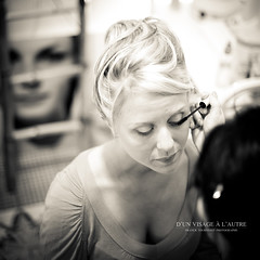 D'un visage  l'autre (Franck Tourneret) Tags: wedding bw woman 50mm nikon married femme makeup nb mariage maquillage preparations beautician prparatifs marie esthticienne d700