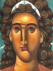 archangel michael 1 (A.Anninos) Tags: art paper michael icons egg icon archangel byzantine tempera