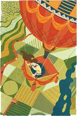 Hot Air Balloon (Caleb Luke Lin) Tags: field balloon aerial farmland hotairballoon birdseyeview