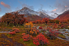 Autumn in Argentina (Helminadia Ranford) Tags: travel autumn patagonia fall nature argentina colors sunrise trekking hiking helminadia pointcenotcamp