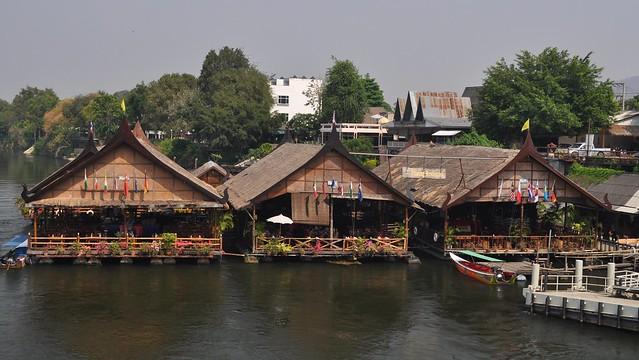 Floating Restaurant, Khwae Yai River, Kanchanaburi, Thailand