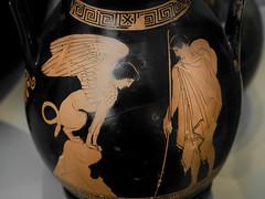Oedipus and the Sphinx (Egisto Sani) Tags: ceramica ceramic pottery greek greca museo museum berlino attic redfigure altes berlin sphinx sfinge edipo oedipus vasigreci greekmyths mitigreci pittorediachille achillespainter