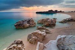 dawn at Cala Mariolu (wild friday) Tags: sardegna longexposure sea vacation beach nature landscape dawn islands mare sardinia loneliness alba outdoor natura spiaggia mattino sgualdini