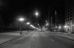(bavan.prashant) Tags: winter bw white chicago black film walking crossing kodak trix 400 17 roads 135 canonet 2011 ql
