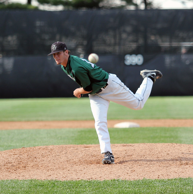 Junior Jamie Treml shined in seven innings of work in the season opener, striking out five while only allowing one hit against St. Thomas Aquinas. Copyright 2012; Wilmington University. All rights reserved.