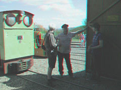 Edge of the engine shed (katyfernleigh) Tags: 3d anaglyph stereo spm twincamera ixus70 sdmsync