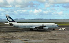 Cathay Pacific A340 B-HXJ (Simon_sees) Tags: travel newzealand vacation holiday tarmac plane airplane airport aircraft transport jet cx auckland nz airbus a340 cathaypacific bhxj