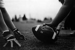 Hut, hut, hike! (Daniel.Lam) Tags: bw white black film ball photography foot 50mm football nikon daniel nfl negative national american 400 scanned and 18 lam league arista daniellam daniellamphotography