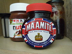 Maamite: Toasting The Queen's Diamond Jubilee (dullhunk) Tags: liz elizabeth jubilee royal queen monarch  crown yeast royalty 60 elizabethii sixty marmite 2012 1952 unilever maam leatherhead yeastextract diamondjubilee maamite maamite