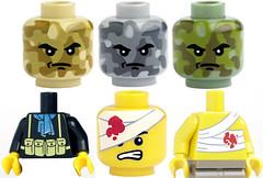 Citizen Brick New Heads & Torsos! (ToyWiz.com) Tags: brick lego fig wounded mini camo figure minifig custom wound citizen printed minifigure toywiz