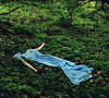 Poison and Wine (AmyJanelle) Tags: blue sleeping blur green field forest photography bottle hands woods focus dress purple arms wine sleep nobody poison conceptual nightgown laying cloves layingdown deflated bluedress thecivilwars poisonandwine whaddupwierdtags