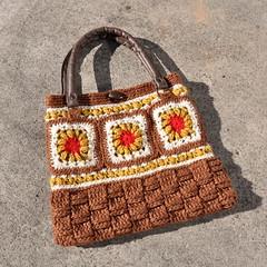 Crocheted Granny Square handbag (Kiwi Little Things) Tags: crochet handbag grannysquares