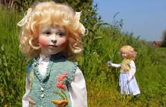 Hedgerow Flowers (Hidden House Dolls & Bears) Tags: michael dolls lynne roche