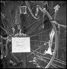 Tribute to Barry Mason  - im gonna miss your Christmas rides mate (cloudy images) Tags: robot rodinal crossbones adox
