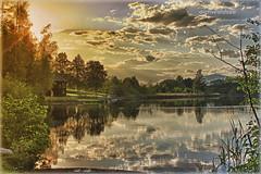 Aichwaldsee_HDR (peter pirker) Tags: sunset cloud water yellow canon austria see sterreich wasser flickr wolken krnten carinthia gelb teich dri hdr classique dynamik villach sonnuntergang finkenstein flickraward peterfoto aichwaldsee villachland flickraward5 mygearandme eos550d peterpirker