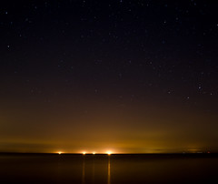 Ghosts on the Horizon (Andrew Speight // andrewspeight.co) Tags: ocean blue portrait sky beach beautiful up yellow night project dark de stars lights one bay three nikon day ship darkness horizon ghost line hundred ghosts lit six sixty forty delawarebay 146 366 asphoto d7000 andrewspeightphoto speightphoto