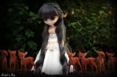 Ivy: Weapon of choice #6 (pure_embers) Tags: uk baby cute green animal sisters forest garden army ana eyes doll dolls princess magic gray royal ivy deer wig pullip pure maiden karina embers leeke obitsu leekeworld prupate