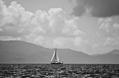 Sail into the open.. (Muadh N M) Tags: ocean sea sky mountain nature turkey sailing open hills sail bodrum
