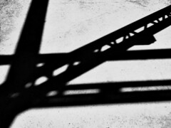 Shadowy Steel (AR_the old guy) Tags: roof bw industry concrete shadows open floor steel evergreen brickworks toned derelict topaz