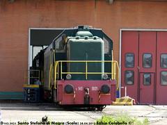 D143 del ATSL (Fabio Colabello - feb9610) Tags: 2002 la d liguria di treno santo stefano 143 343 storico magra treni spezia scalo storici 3021 d143 atsl