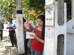 Noting down the polluting vehicle (Clean Air Asia) Tags: srilanka cann casl aqm krityshrestha fkexchangeproject