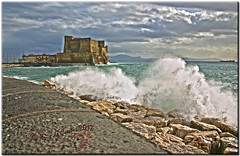 Stormy Seas (krisdecurtis) Tags: sea sky italy panorama seascape building castle architecture backlight canon buildings spectacular landscape rocks italia 300d campania canon300d wave kris napoli naples splash castello paesaggio masterpiece 2012 santalucia onda scogli casteldellovo marvels maddaloni napule meraviglie slucia krisdecurtis mygearandme mygearandmepremium mygearandmebronze mygearandmesilver mygearandmegold mygearandmeplatinum mygearandmediamond dblringexcellence tplringexcellence flickrstruereflection1 flickrstruereflection2 flickrstruereflection3 flickrstruereflection4 eltringexcellence rememberthatmomentlevel1 rememberthatmomentlevel2