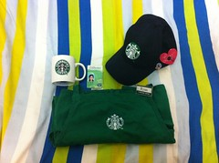 what's in my bag ?!! (Ryan ▲) Tags: cup coffee cap starbucks stuff