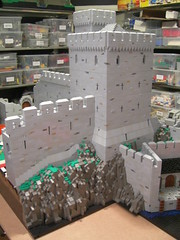 Harbourkeep 7 (Jesperallen) Tags: roof tower castle wall lego harbour cliffs seawatch crenelations