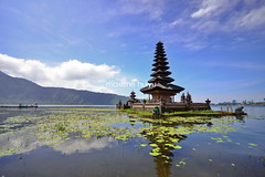 Ulun Danu Temple, Bali (myu) Tags: travel blue bali lake green nature water indonesia landscape temple photography asia south famous central east hindu pura ulun danu myu bratan beratan maxene bedugul huiyu earthasia mygearandme