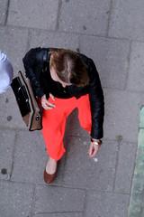 From Above (josephzohn | flickr) Tags: girls red people streetart fromabove redskirt vska tjejer mnniskor r uppifrn rdkjol brahegatan gatubild
