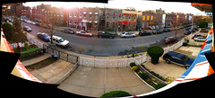 Croes Ave (brn_nieves) Tags: street nyc newyorkcity sunset panorama apartment bronx pano neighborhood sidewalk hood thebronx avenue croes croesave