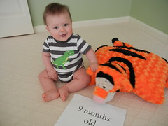 hanging with Tigger