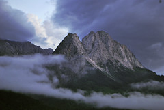 The Zugspitze Massif in the Bavarian Alps (Jeka World Photography) Tags: world travel mountain alps fog germany bavaria nikon alpine massif zugspitze d60 bavarianalps nikond60 wettersteinrange jekaworldphotography jeffrosephotography