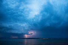 Lightning - Konstanz (Tobias Knoch) Tags: lake storm reflection water clouds contrast canon deutschland eos mark iii wolken l 5d thunderstorm lightning usm tobias blitz bodensee gewitter konstanz thunder constance impressive 1740 donner badenwrttemberg knoch bedrohlich sommergewitter
