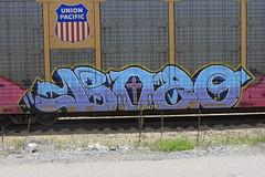 Bozo (A & P Bench) Tags: art train graffiti fan paint steel rail railway spray graff freight benching