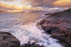 Unexpected | Henningsvr, Lofoten, Norway (v on life) Tags: ocean longexposure sea norway clouds sunrise rocks waves lofoten henningsvr vision:sunset=0721 vision:sky=0732 vision:clouds=0853 vision:outdoor=0849