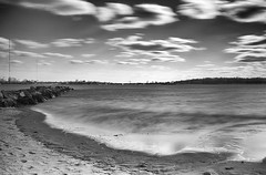 Orchard Beach - The Bronx (proartwork) Tags: longexposure blackandwhite beach water filter polarizer orchardbeach neutraldensityfilter singhray varinduo