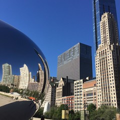 Cloud Gate (andrewireland92) Tags: cloud chicago reflection art illinois midwest gate postmodern exhibition publicart cloudgate thebean