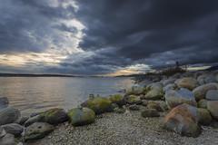 Moody (Michael Waterhouse Photography) Tags: sunset canada english beach vancouver bay columbia british